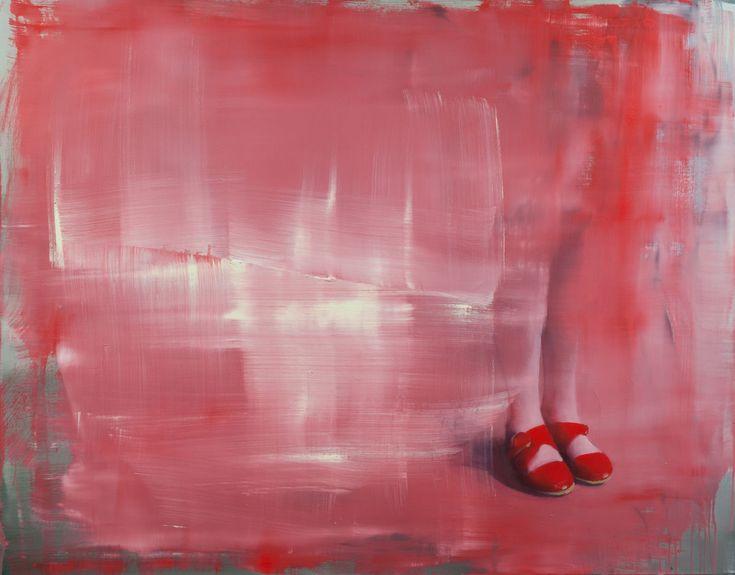 Solkikengät, 2016 by Tiina Heiska. Oil on canvas, 110x140 cm. Inquiries sari.seitovirta@seitsemanvirtaa.com / GALERIE SEITSEMÄN VIRTAA