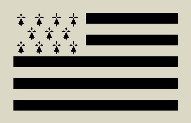 Pochoir en vinyle adhésif. Drapeau breton. Gwenn ha du (ref 122) : Décoration d'intérieur par larabesque