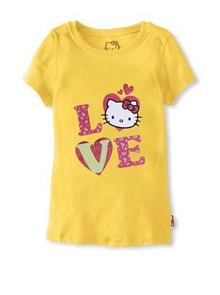 50% OFF Hello Kitty Girl's Graphic Tee (Aspen Gold)