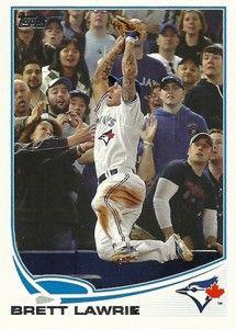 2013 Topps Baseball Card of Brett Lawrie