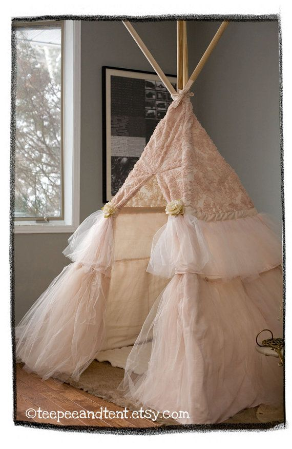 Kids Ruffle Teepee Play Tent - MADE TO ORDER More