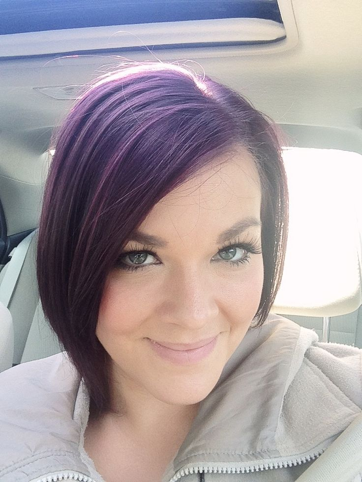 New burgundy/eggplant hair color :)