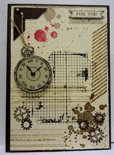 BaRb'n'ShEllcreations: StampinUp Clockworks, Grid, Gorgeous Grunge