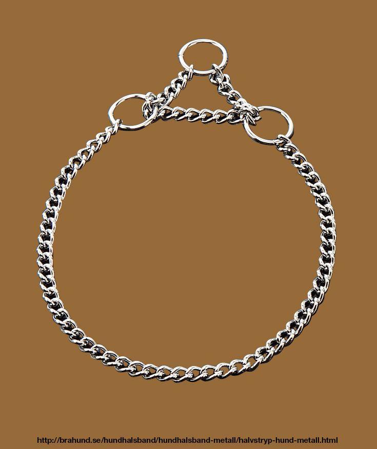 Halvstryp, förkromad, runda länkar. Fabrikat Sprenger, Tyskland. Förkromat halvstryp halsband som uppskattas av många eftersom de är lätta att sätta på och ta av. De korta länkarna glider enkel igenom ringen.