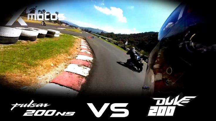 PULSAR NS VS DUKE 200 Drag Race / Xmotos