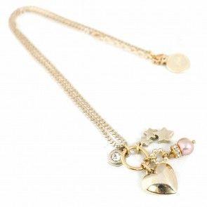 Bibi Bijoux short gold charms necklace