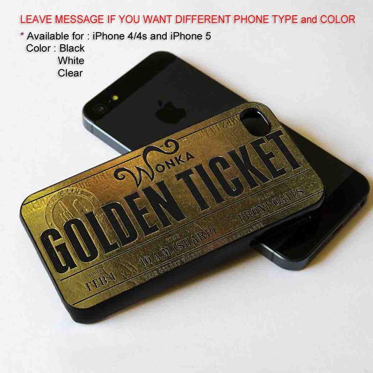 Wonka Golden Ticket iPhone 5 BLACK case