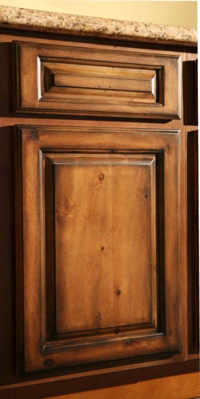 Pecan Maple Glaze Kitchen Cabinets, Rustic Finish- Sample Door-RTA- All wood