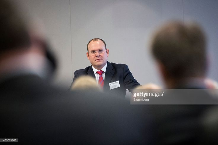 Graham Shuttleworth, chief financial officer of Randgold Resources Ltd., speaks during the company's fourth-quarter results presentation in London, U.K., on Monday, Feb. 9, 2015. Randgold Chief Executive Officer Mark Bristow said today that the company is 'ready to pull the trigger' on any acquisition opportunities. Photographer: Simon Dawson/Bloomberg via Getty Images