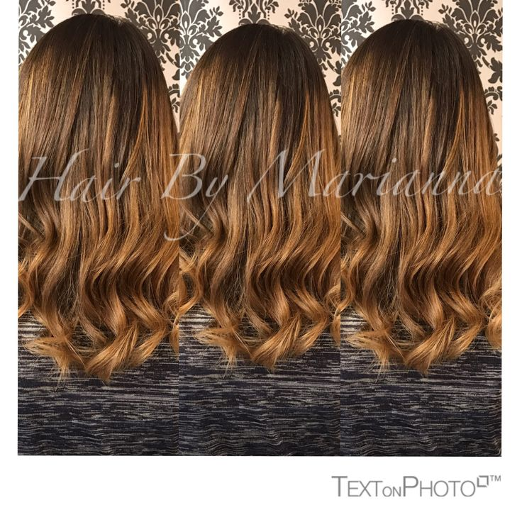 Chocolate caramel melt brunette balayage Hair By Marianna