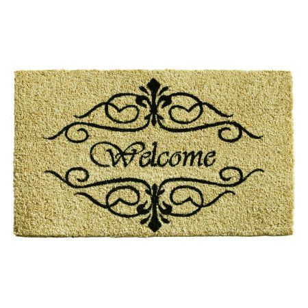Home ; More Classic Welcome Outdoor Doormat, Black