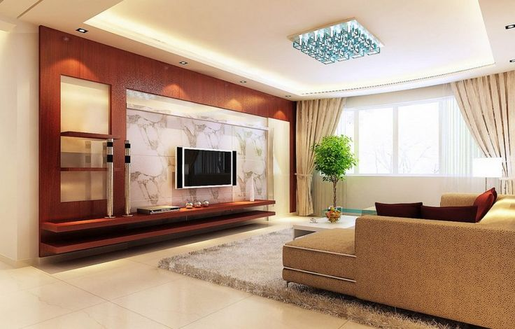 Accessories and Furniture. Modern Living Room Tv Wall Panels. Wooden Living Room Tv Wall Panels With Contemporary Interior Theme And White Rug Plus Ceramic Flooring