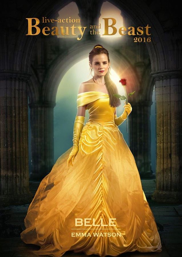 Emma Watson in Beauty and the Beast Live Action Movie. Coming out in 2017