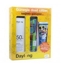 Daylong Kids SPF 50 Losyon 150 ml + Oral B Diş Fırçası ve Diş Macunu Hediyeli