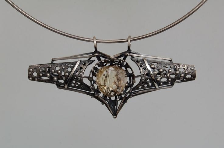 náhrdelník, Ag, citrín