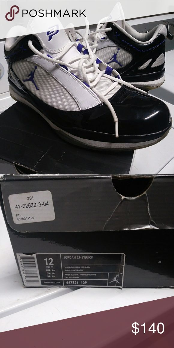 New jordan cp2quick white/drk concord-black New jordan cp2quick white/drk concord-black..mens sz.12..cms w. Origanal box Air Jordan Shoes Athletic Shoes