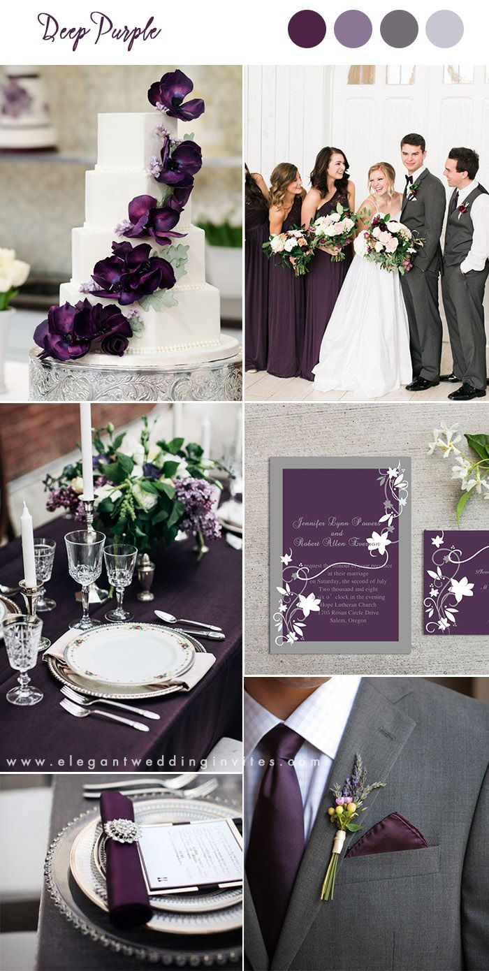 10 Pretty Shades Of Purple Wedding Color Combos Wedding Theme