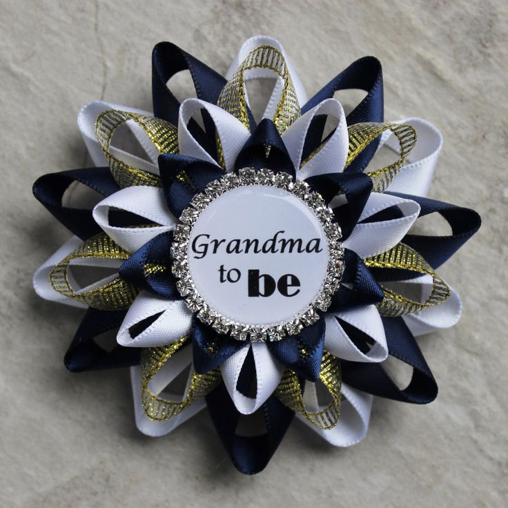 Royal Baby Shower Decorations, Little Prince Baby Boy Shower, Navy Blue and Gold, White, Royal Prince Baby Shower Theme, Mommy Corsage Pin by PetalPerceptions on Etsy