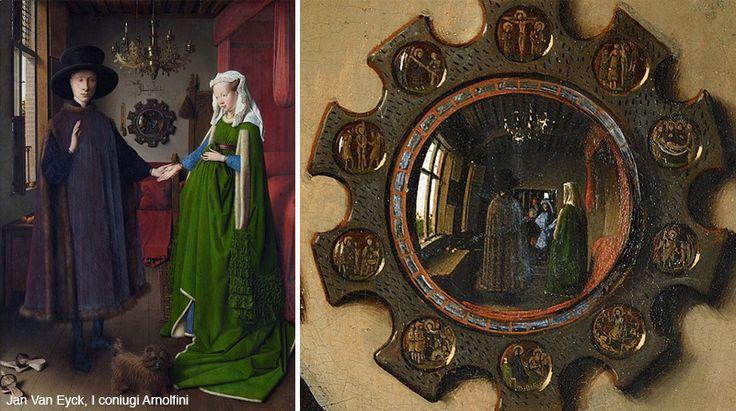 Studio di Van Eyck del riflesso delle immagini in specchio convesso, prima del famoso esempio di Escher