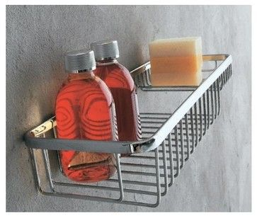 Filo Shower Basket With Soap Dish contemporary-shower-caddies