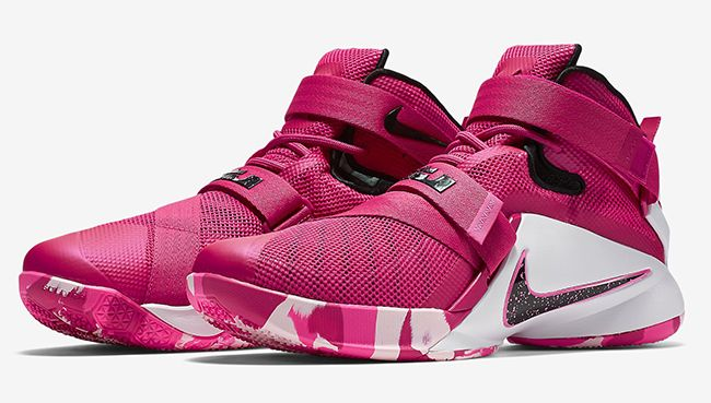 Nike LeBron Soldier 9 'Think Pink' Arkansas-Pine Bluff Golden Lions