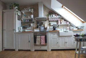 anglická kuchyně dřevěná