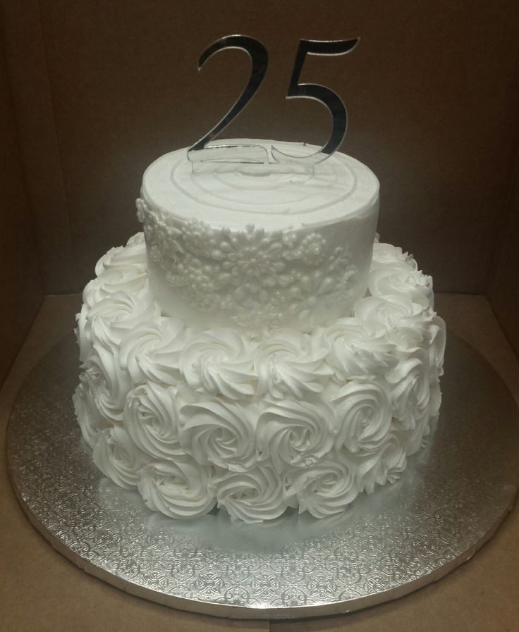 25th Wedding Anniversary Cake Ideas: 17 Best Images About Bridal Shower/Anniversary Cakes On