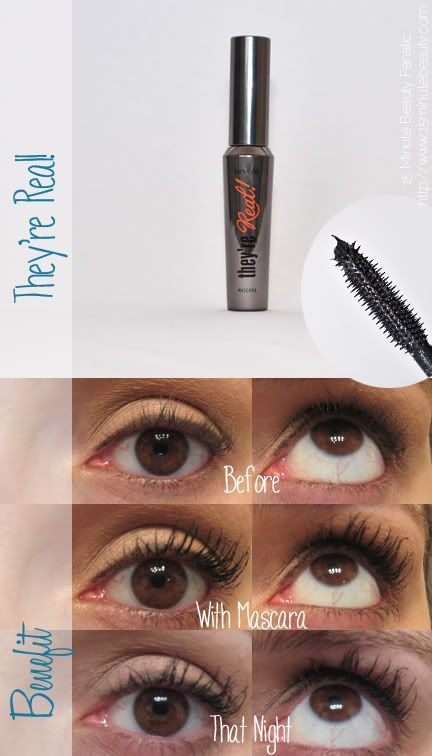 d07c1977cc5 Benefit They're Real Mascara Review, before and after #MascaraDupes ...