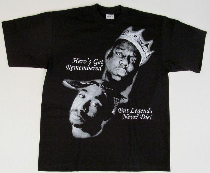 tupac shakur biggie smalls legends t shirt 2pac notorious. Black Bedroom Furniture Sets. Home Design Ideas