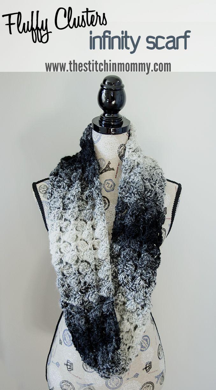 Best 25 free crochet scarf patterns ideas on pinterest crochet fluffy clusters infinity scarf free crochet pattern bankloansurffo Choice Image