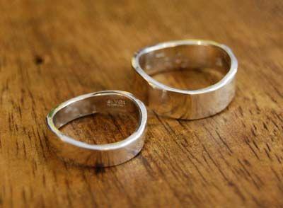 シルバーの結婚指輪 : dahliacyan