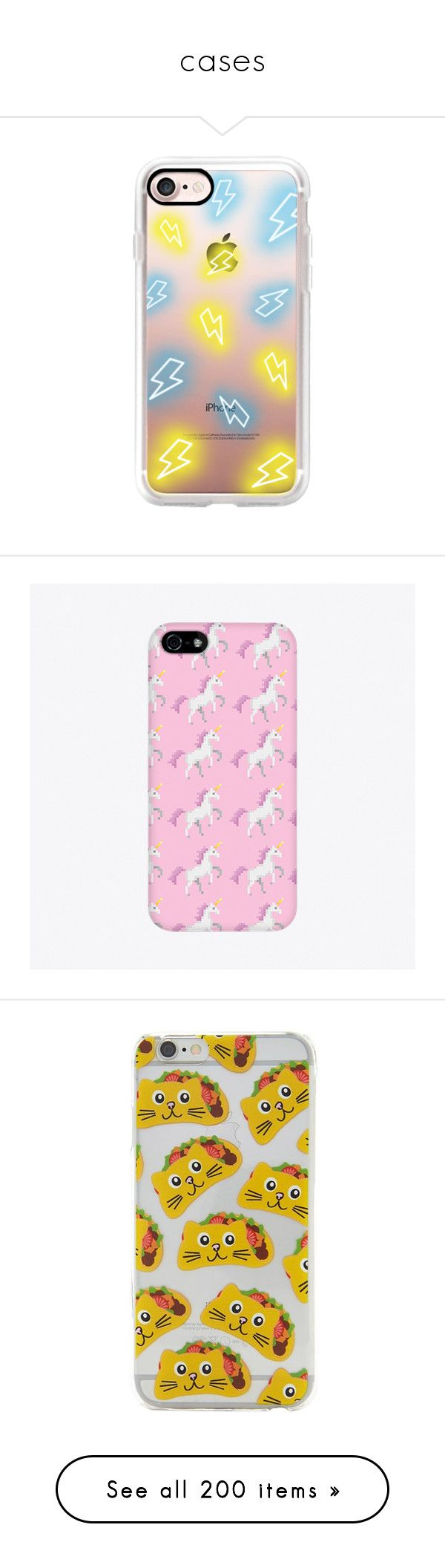 """cases"" by zachtoby ❤ liked on Polyvore featuring accessories, tech accessories, iphone case, iphone cases, iphone cover case, apple iphone case, phone cases, phone, case and unicorn iphone case"
