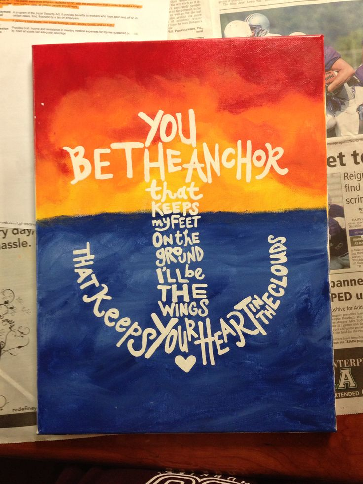 80 best images on pinterest sorority life sorority crafts anchor canvas finger painted sunset with a quote easy diy for my sister solutioingenieria Image collections