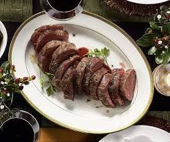 Image result for whole roasted beef tenderloin with red wine butter sauce