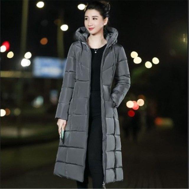 2018 Plus Size Winter Jacket Women Hooded Down Wadded Jacket Female Parkas Cotton-Padded Jackets Thick Women Winter Coat A1129 g 2