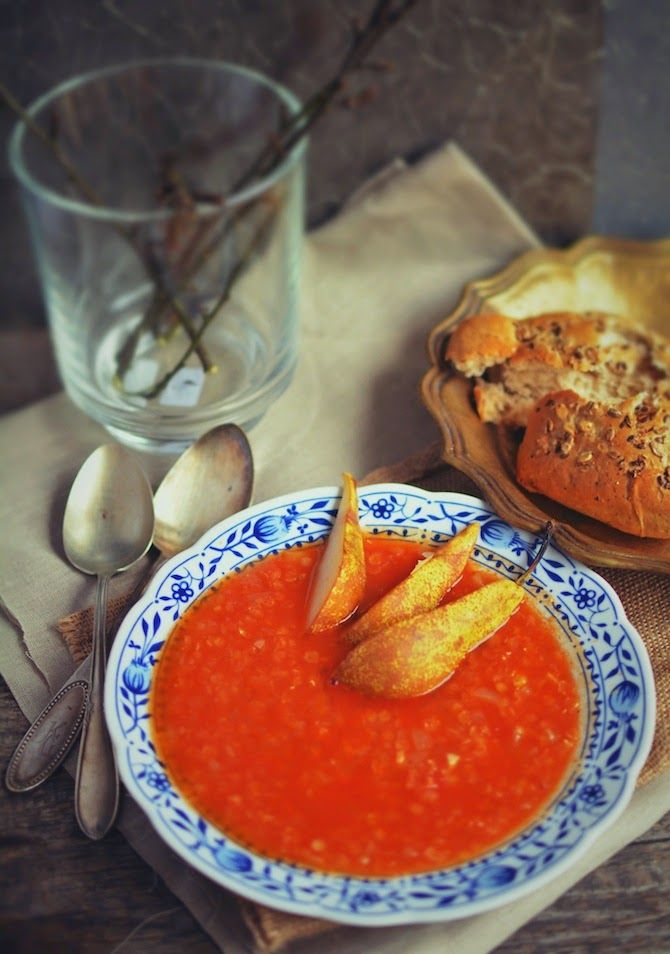 Asia's White Kitchen: Zupa soczewicowo-gruszkowa