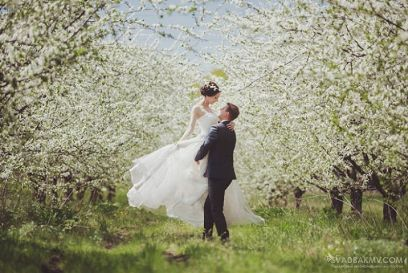 romantyczny ślub wiosna