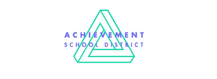 Alternate logo lockup for Achievement School District by Fuzzco