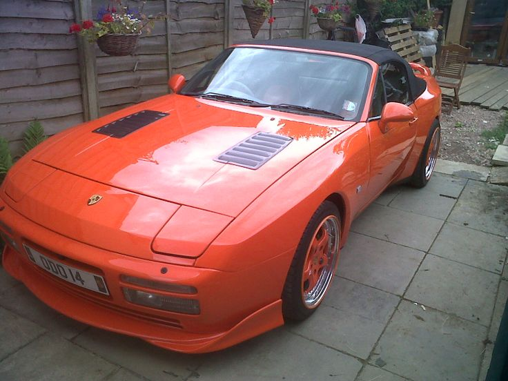 Porsche 944 S2 1990 Customised By Paddy Van Der Moyle Custom Rear Spoiler With Brake Light Rear Valance Diffuser Front Bat Wing Front Spoiler Boten Auto S