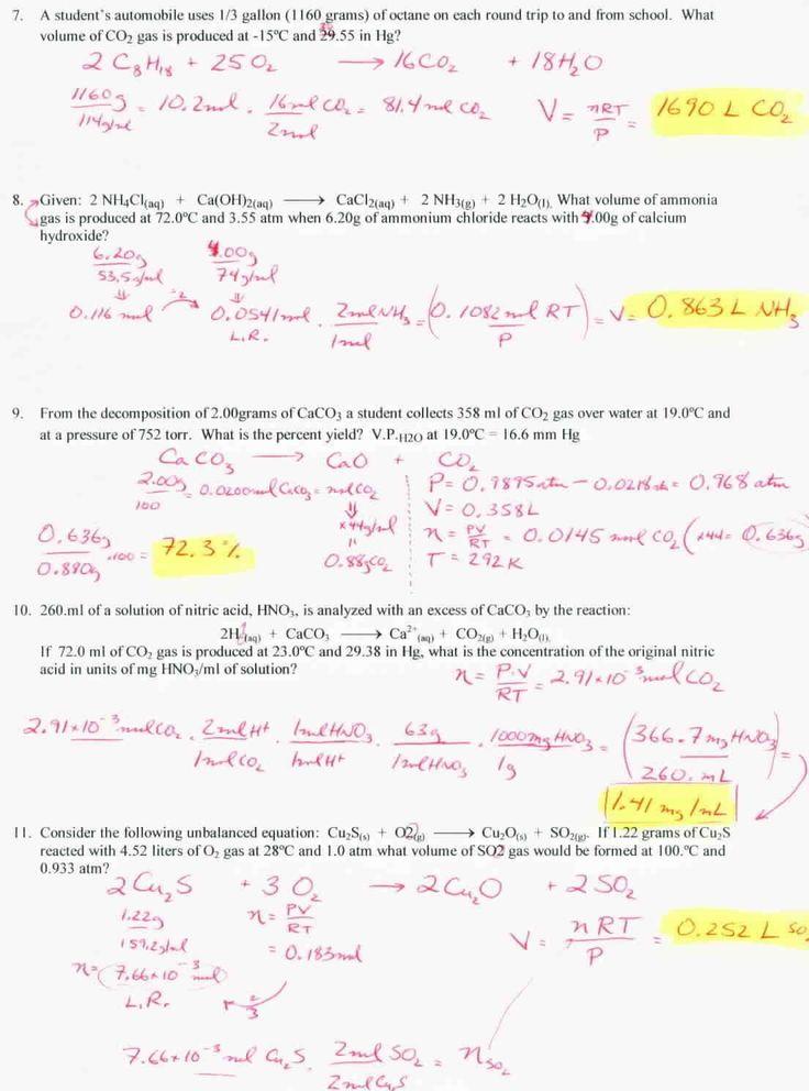 Stoichiometry Worksheet Answer Key Stoichiometry and