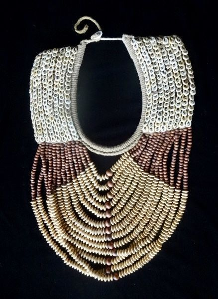 Exotic Jewelry Shell Necklace with Bead Women Fashion Tribal Art Home Decoration #Ratna