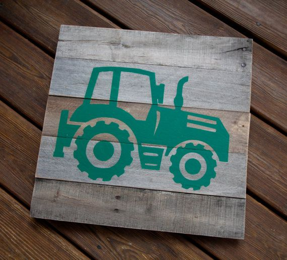 Pallet Wood Tractor Sign Custom Reclaimed Wood by 4Lovecustomgifts