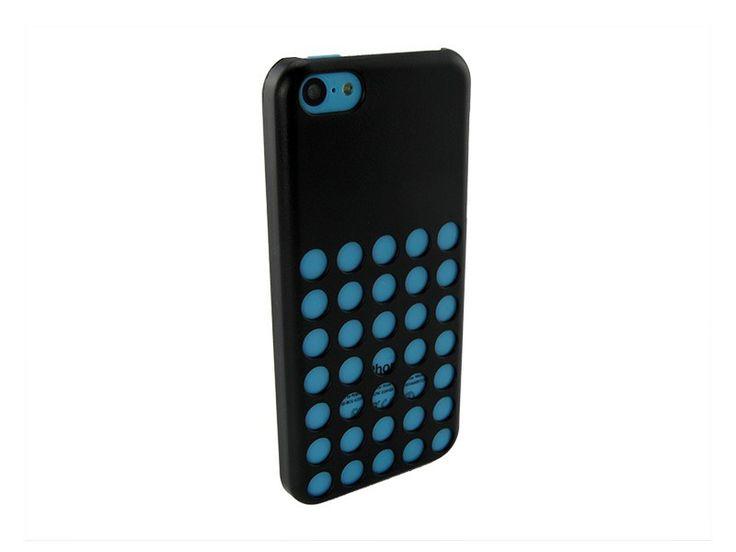 Hardcover iPhone 5C Hoesje Gaten Zwart