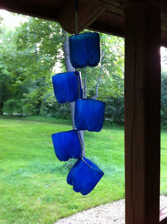 Large Upcycled Plastic Bottle Hanging Planter Plastic