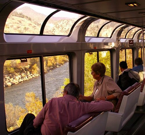 Pictures of Amtrak Trains and Trips: Amtrak Observation Cars, Dining Cars and Amtrak Services