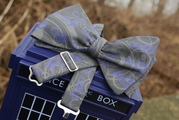 Bow Ties are Cool  Gallifreyan  Freestyle Bow by TheDirectorsCabin, $27.50    made with a customised version of my simple gallifreyan fabric, from spoonflower.