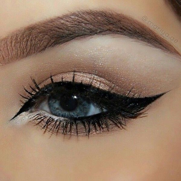 "Mariya Lyubashevskaya on Instagram: ""Close up of the Arabic inspired... ❤ liked on Polyvore featuring beauty products, makeup, eye makeup and eyeliner"