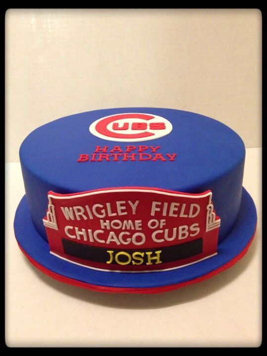 34 Best Images About Chicago Cubs Cakes On Pinterest