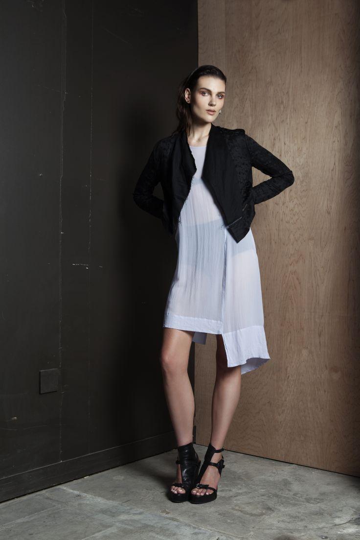 Sanity Assassin Jacket | Dark Entries Dress  #silk #dress #fagoting #details #summer #companyofstrangers