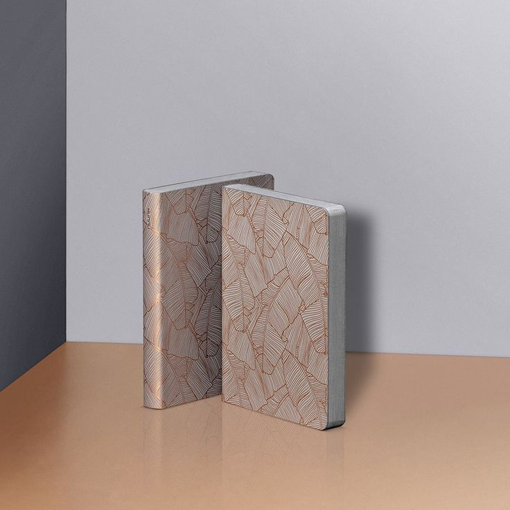 Graphic S - Banana Leaves Copper  flexcover notebook by nuuna